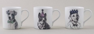 The Kat & Monocle Fine Bone Chine Mugs