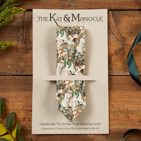 Urban Jungle Handmade Skinny Tie in Packaging by The Kat & Monocle