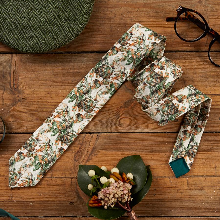 Urban Jungle Handmade Skinny Tie by The Kat & Monocle